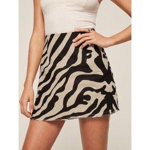 Reformation Zebra Skirt